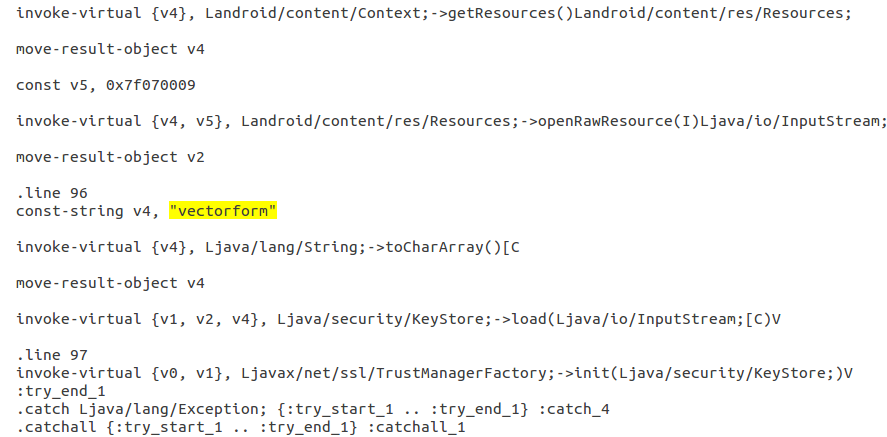 Decompilation of .bks loading procedure