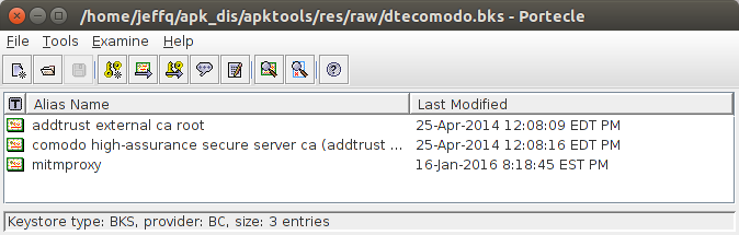 Modified dtecomodo.bks file